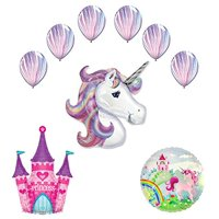 Unicorn Party Supplies Princess Castle Balloon Bouquet Decorations
