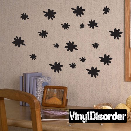 flowers daisies child teen vinyl wall decal mural quotes words