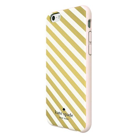 Refurbished   Kate Spade New York Flexible Hardshell Case For Apple Iphone 6 6S   Rose Gold Diagonal Stripe