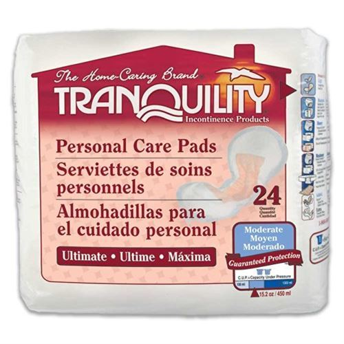 "Tranquility Personal Care Pads 13.5"" x 6.5""-Case of 96"