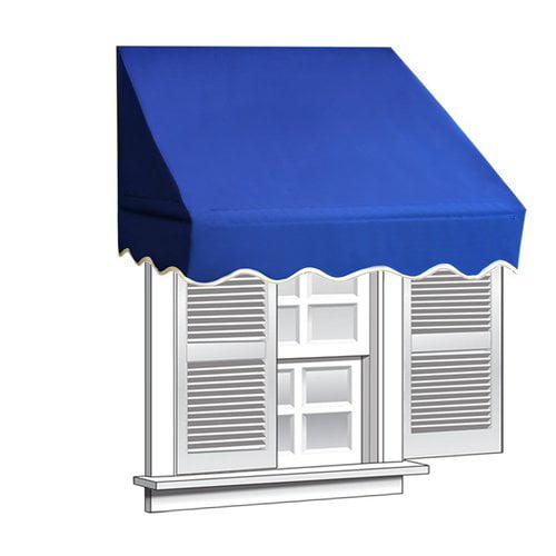 ALEKO 6' x 2' Window Awning Door Canopy, Blue