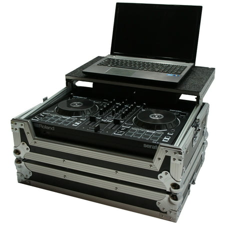 Harmony HCDJ202LT Flight Ready Glide Laptop Stand DJ Case for Roland DJ-202