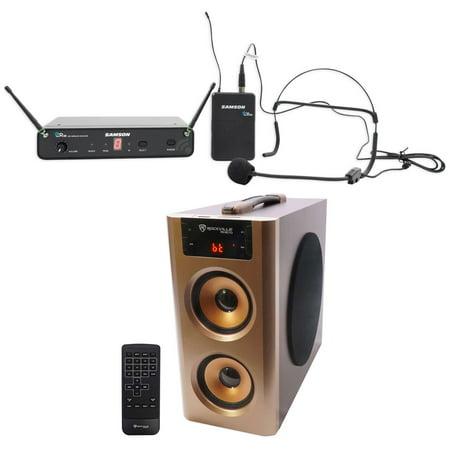 SAMSON Concert 88 Wireless UHF Headset Microphone System+Home Theater Speaker (Concert Speakers)