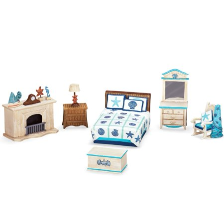 Collections Etc  Collectible Miniature Seaside Bedroom Set