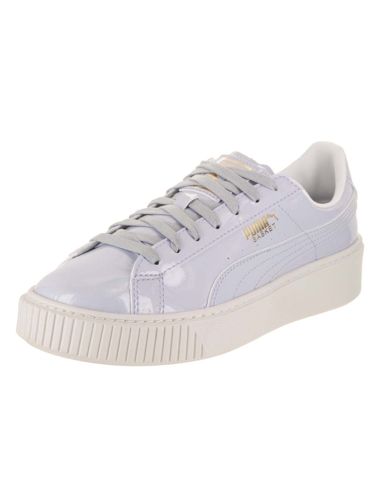 Women's Basket Platform Patent Casual Shoe