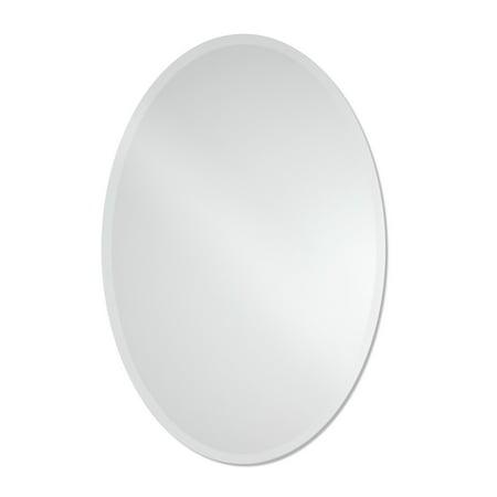 The Better Bevel Frameless Oval Beveled Wall Mirror Beveled Mirrored Doors