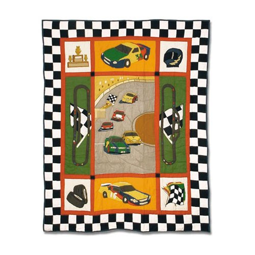 Patch Magic Racecar Crib Quilt by Patch Magic