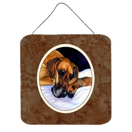 Natural Eared Fawn Great Dane Momma & Puppy Wall or Door Hanging