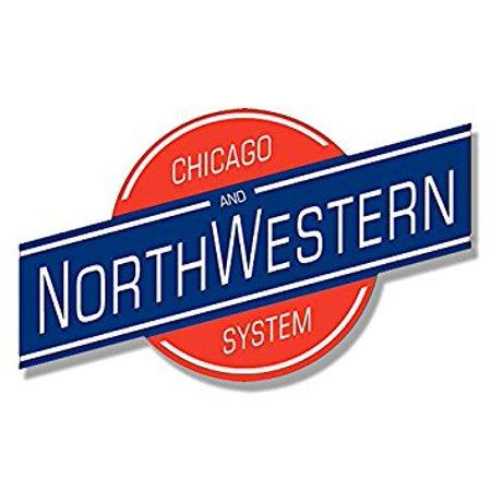 Chicago and Northwestern System Railroad Sticker Decal (rr railway rail logo) 3 x 4 inch