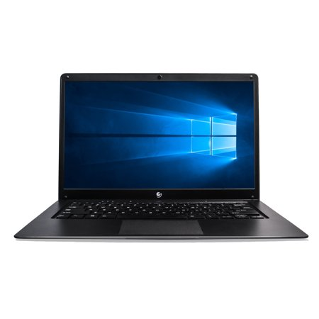 Ematic 14.1u0022 Laptop PC with Intel Atom Quad-Core Processor, 4GB Memory, 32GB Flash Storage and Windows 10 EWT147