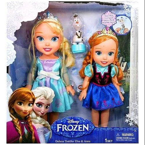 Disney Frozen Deluxe Toddler Elsa & Anna 12 Doll 2-Pack