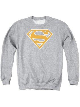 964af06898d7b9 Product Image Superman DC Comics Burnt Orange   White Shield Adult Crewneck  Sweatshirt
