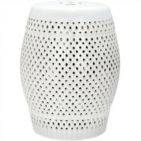 Safavieh Diamond Ceramic Garden Stool In Cream Walmart Com