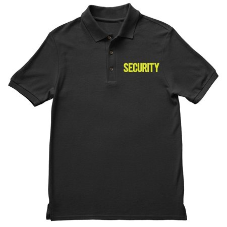 2c843a8a NYC Factory - NYC FACTORY Security Polo Shirt Front Back Print Mens Tee  Staff Event Uniform Bouncer Screen Printed (Black-Neon, Small) - Walmart.com