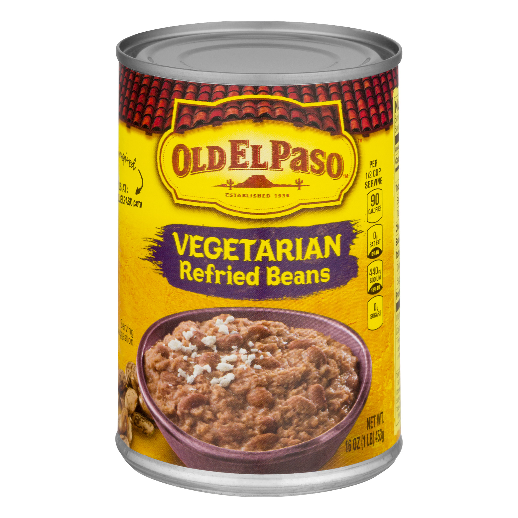 Old El Paso™ Vegetarian Refried Beans 16 oz Can