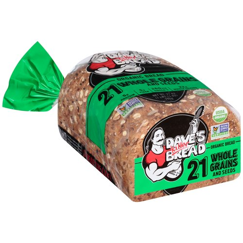 Dave's Killer Bread 21 Whole Grains and Seeds Organic Bread, 27 oz