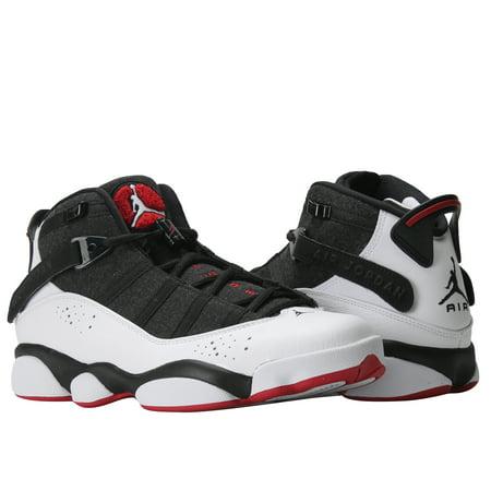 97590b7db98 ... Jordan - Nike Air Jordan 6 Rings Black White-Gym Red Men s Basketball  Shoes ...