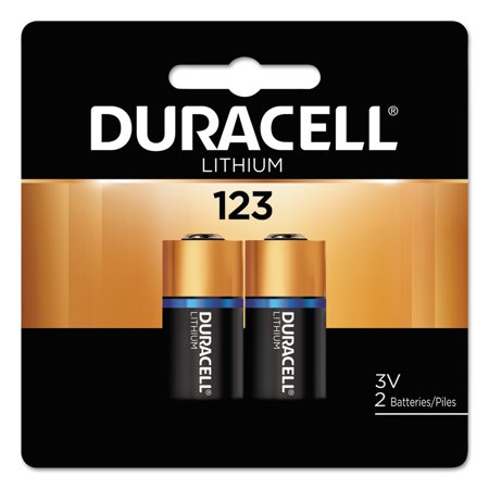 Duracell Ultra High Power Lithium Battery  123  3V  2 Pack