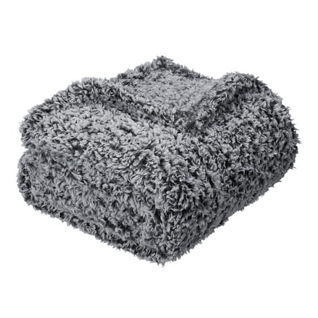 Mainstays Extra Plush Lightweight Sherpa Throw Blanket, 50