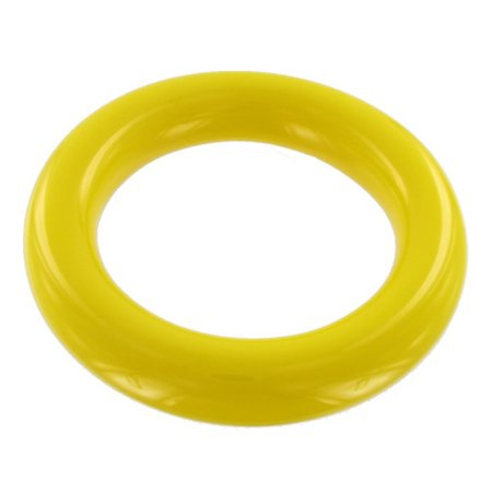 Lucite Bead Bracelet - Yellow Lucite Plastic Smooth Tube Heavy Bangle Bracelet