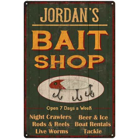 JORDAN'S Green Bait Shop Man Cave 8 x 12 High Gloss Metal 208120027265 (Bait Shop)