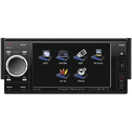 power acoustik pd 535 7 touch screen in dash dvd mp3 car. Black Bedroom Furniture Sets. Home Design Ideas
