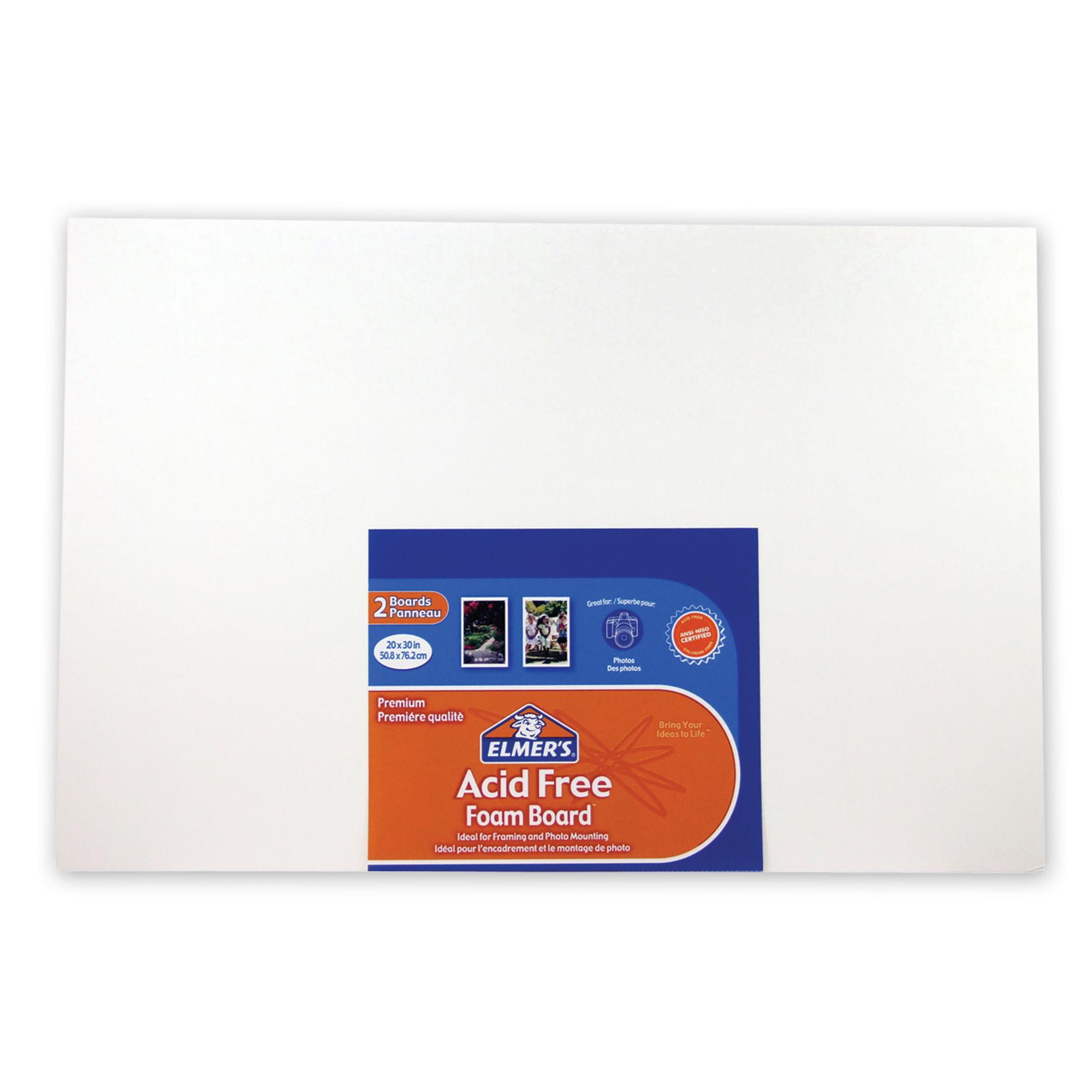 elmer s acid free foam board 20 x 30 x 3 16 2pk walmart com