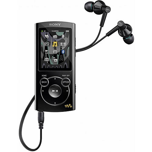 Sony NWZ-S764BLK 8GB MP3 Player with Bluetooth, Black