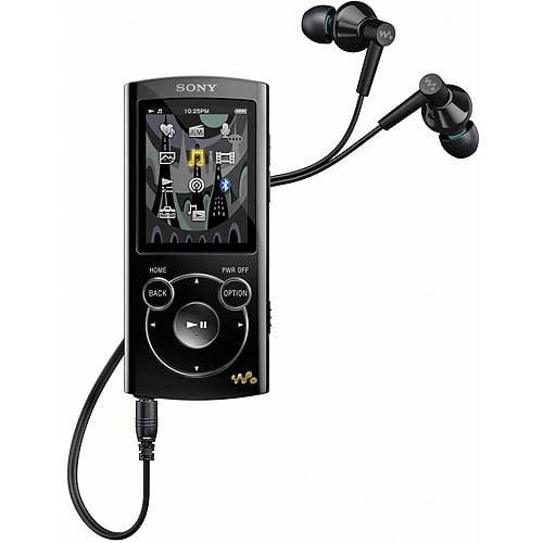 Sony NWZ-S764BLK 8GB MP3 Player with Bluetooth, Black