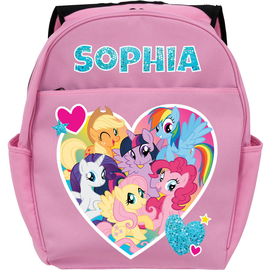 Personalized My Little Pony Friendship is Magic Pink Toddler Backpack