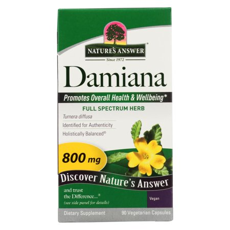 Nature's Answer - Damiana Leaf - 90 Vegetarian Capsules Damiana Leaf Extract Liquid