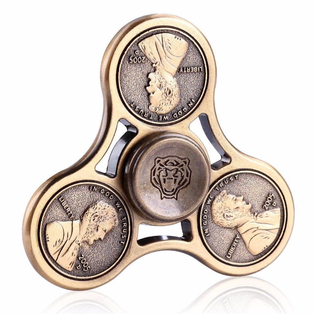 Penny Tri Fidget Spinner Hand Spinner Toy EDC Desk Focus ADHD Stress Reducer EDC Desk Focus ADHD Gyro Stress Relief Focus Toy Metal Premium Alloy