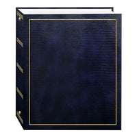 Pioneer Photo Albums 100 Magnetic Page 3-Ring Photo Album, Navy Blue