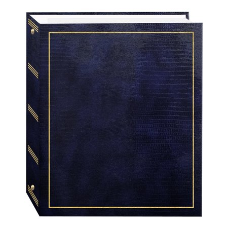 Pioneer Photo Albums 100 Magnetic Page 3-Ring Photo Album, Navy Blue 3 Ring Memory Albums