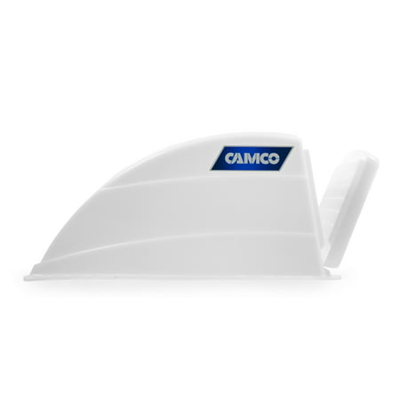 Camco RV Roof Vent Cover, Opens For Easy Cleaning, Aerodynamic Design, Easily Mounts to RV With Included Hardware (White) - Vent Steep Roof