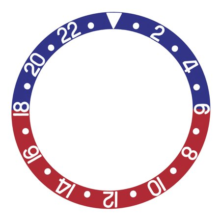 BEZEL INSERT FOR INVICTA SS 8926OB GMT BLUE/RED PEPSI Invicta Gmt Watch