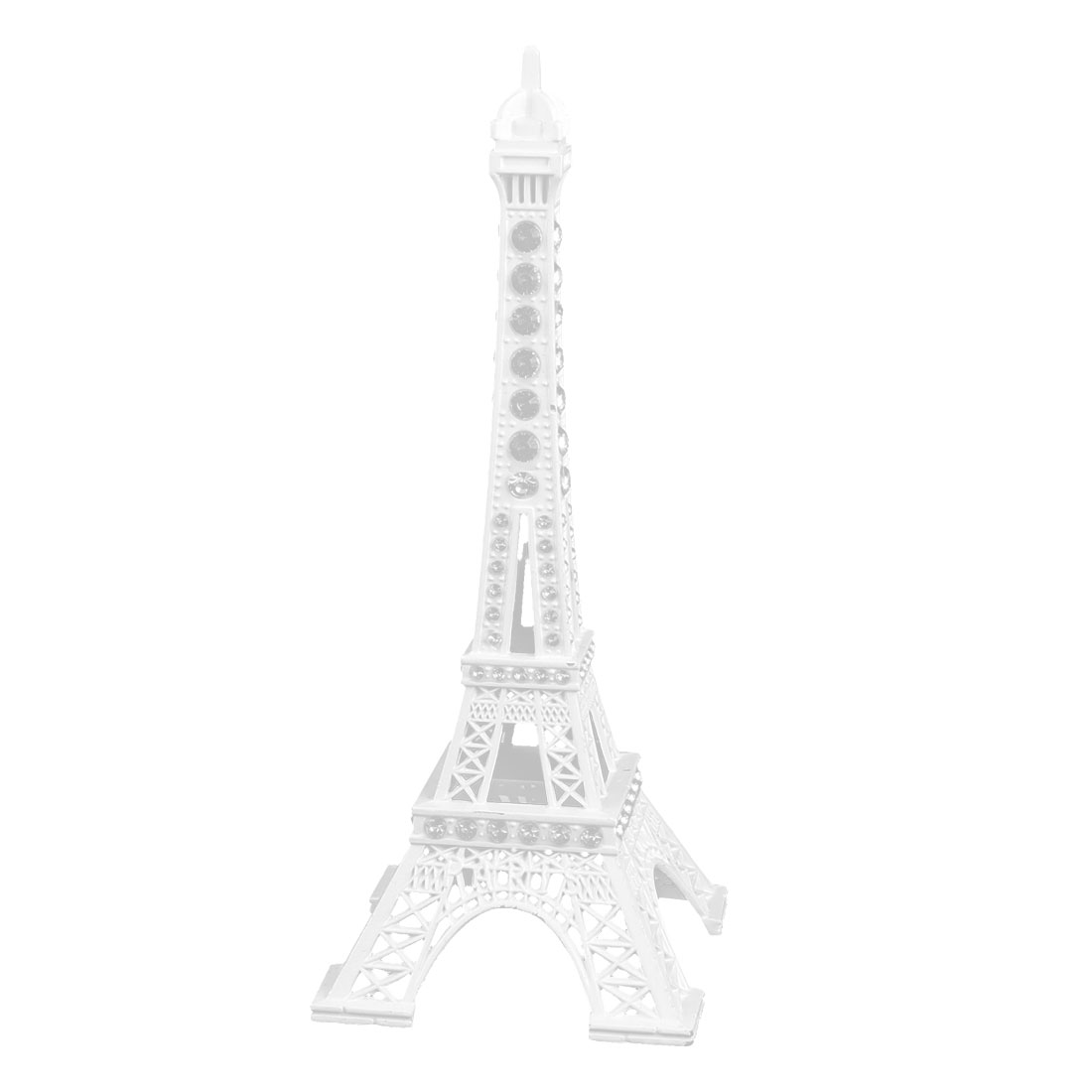 Household Metal Miniature Statue Paris Eiffel Tower Model Souvenir Decor White