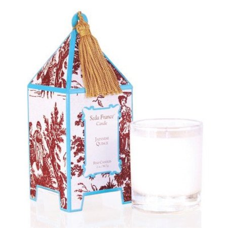 - Seda France Classic Toile Japanese Quince Mini Pagoda Candle