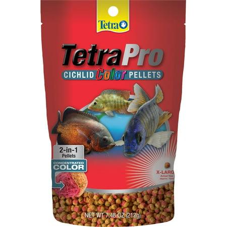 TetraPro Cichlid Color Pellets 7.48 Ounces, Extra-Large, 2-in-1 Color-Enhancing Cichlid Food