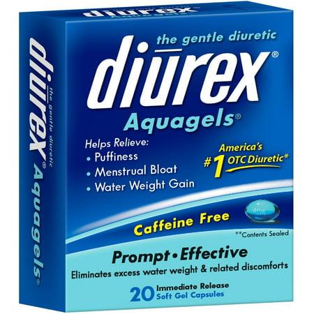 DIUREX The Gentle Diuretic Aquagels, 20 ea (Pack of