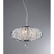 Pan' Chrome and Crystal 3-light Chandelier