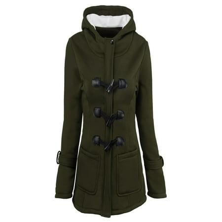 Fashion Women Windbreaker Outwear Warm Wool Slim Long Coat Jacket - Slim Wool Jacket
