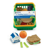 Learning Resources- Pretend and Play Healthy Lunch Play Food Basket Set