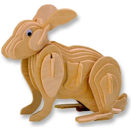 3-D Wooden Puzzle - Small Rabbit -Affordable Gift for your Little One! Item