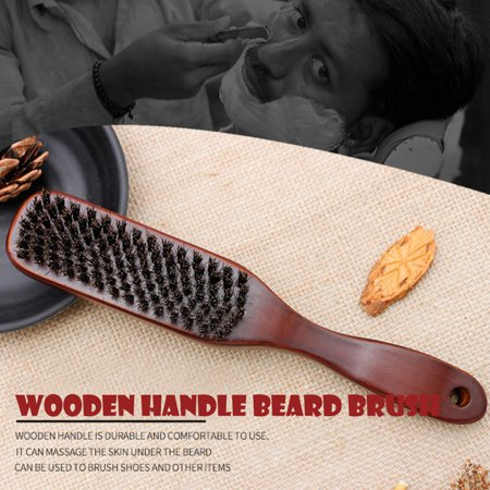 Men Shaving Brush Best Horsehair Shave Wood Handle Razor Barber Tool by