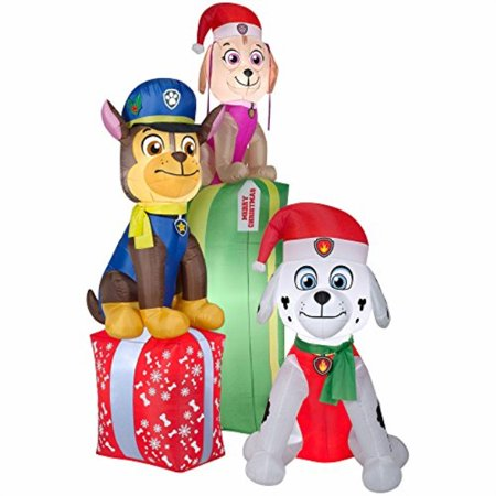 Gemmy Airblown Inflatable Paw Patrol Chase Marshal and Skye Sitting on  Christmas Presents - Holiday Decoration, Over 8 5-foot Tall