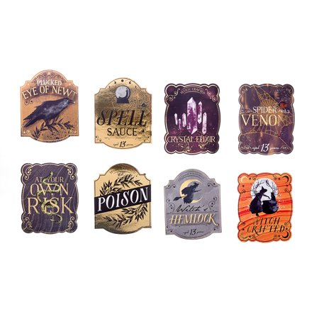 Darice Martha Stewart Crafts Halloween Beverage Labels Assorted styles - Halloween Wine Labels Martha Stewart