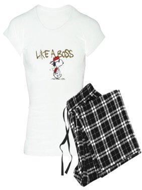 8f47a9bc6 Product Image CafePress - Peanuts Snoopy Like A Boss - Women's Light Pajamas
