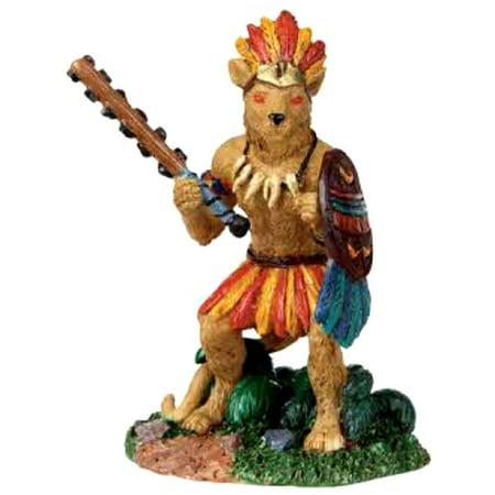 Lemax 02770 JAGUAR WARRIOR Spooky Town Figurine Retired Halloween Decor Figure