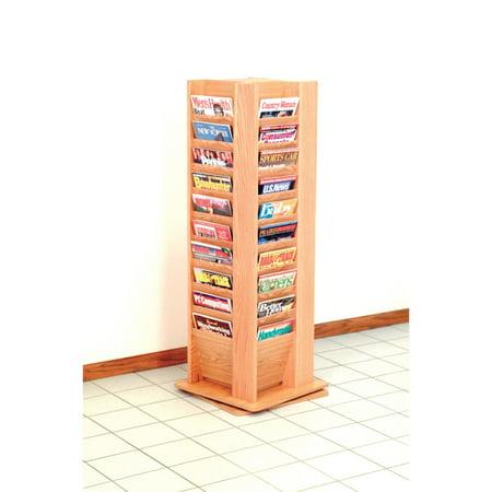 Overlapping Magazine Display - 40-Magazine Free-Standing Floor Display